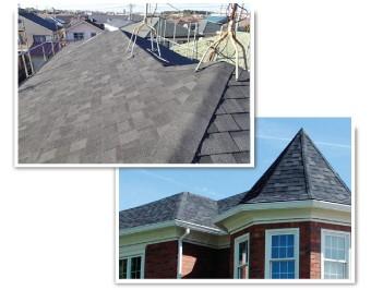 リッジウェイを使用した屋根