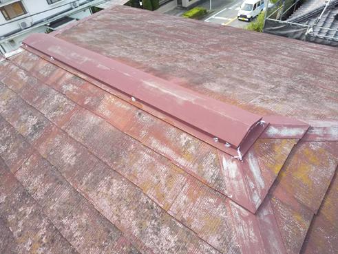 三島市で屋根診断 屋根の経年劣化のため屋根塗装と棟板金補修のご提案