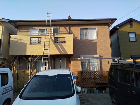 伊豆の国市 屋根カバー工法とコーキング劣化のため外壁塗装のご提案
