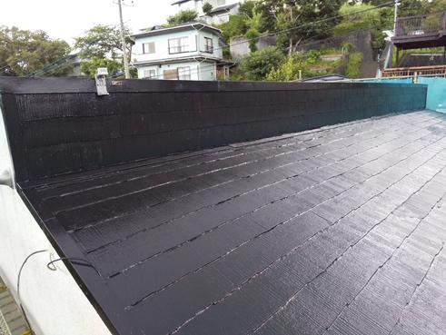 函南町屋根塗装塗膜劣化