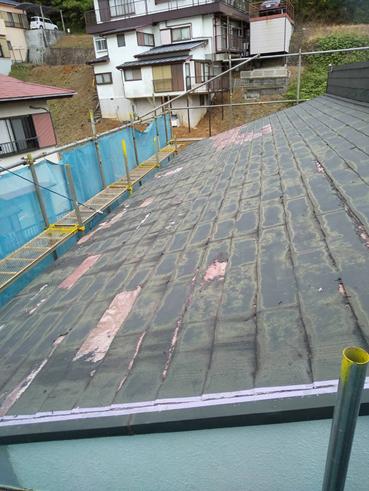 函南町屋根塗膜浮き