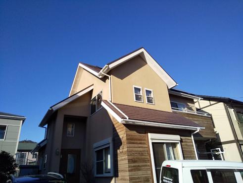 沼津市屋根裏部屋リフォーム・テラス屋根設置・外壁塗装