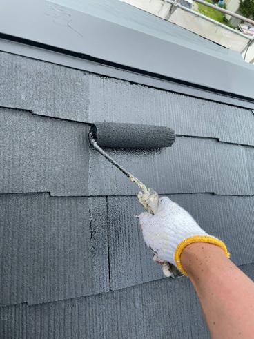 沼津屋根塗装上塗り