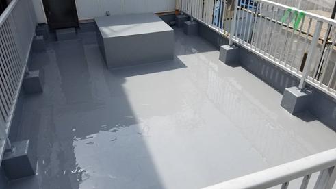 沼津市屋上通気緩衝ウレタン防水完工