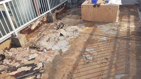 沼津市屋上防水工事洗浄