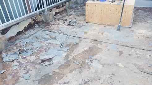 沼津市屋上防水工事清掃
