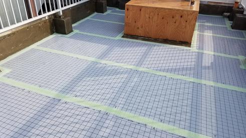 沼津市屋上防水通気緩衝シート貼