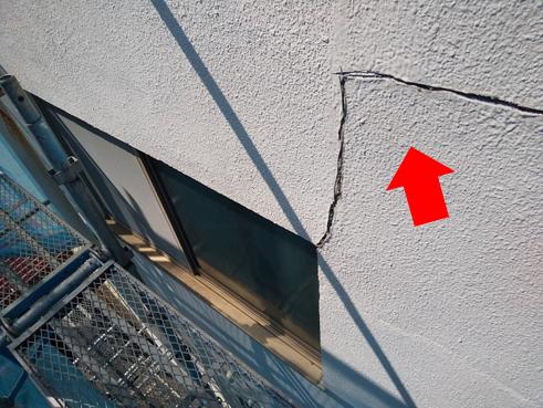 沼津市ビル外壁クラック