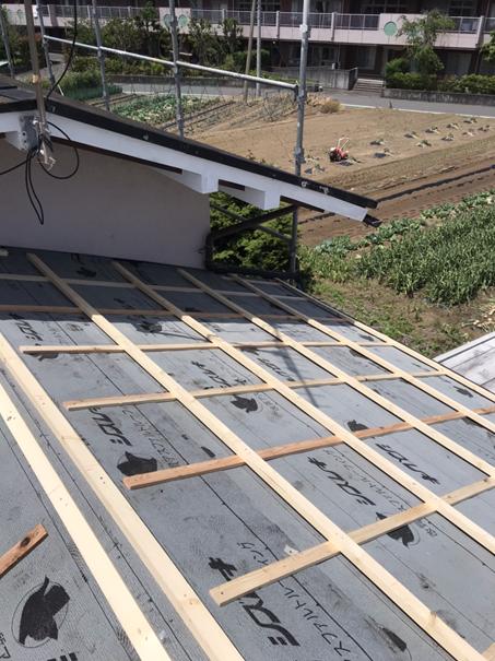 沼津市屋根葺き替え防水紙