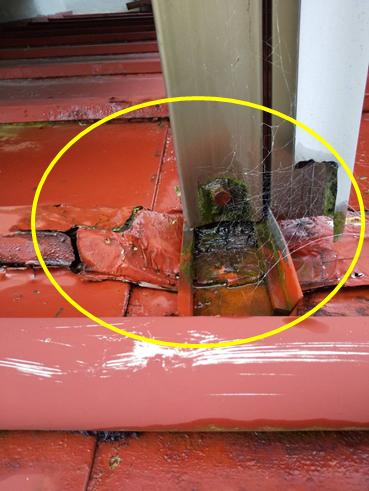 沼津市雨漏りベランダ劣化