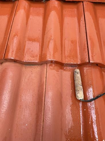 沼津雨漏り屋根部分塗装