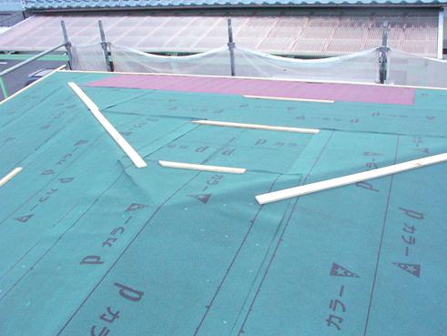 長泉町屋根カバー防水紙