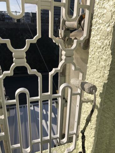 沼津市屋根塗装ベランダ鉄柵