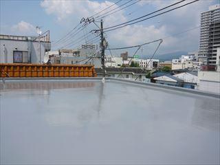 屋上防水完成で雨漏りも安心