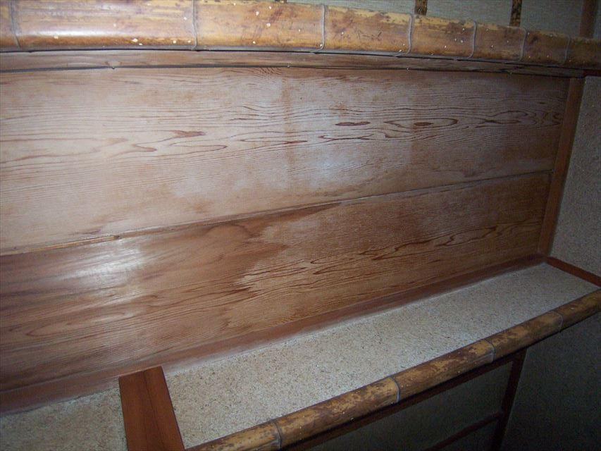 裾野市平屋玄関天井雨漏りシミ