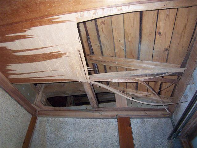 裾野市平屋廊下天井雨漏り