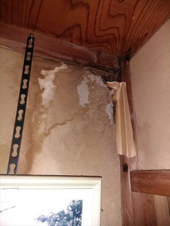 じゅらく壁雨漏り