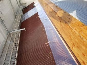 沼津市 屋根木部塗装前の養生
