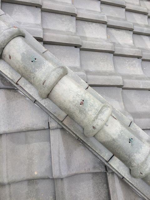 長泉町屋根瓦棟部分