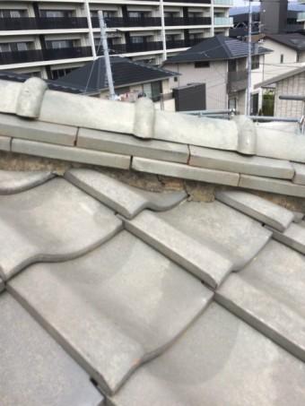 長泉町屋根しっくい部分劣化