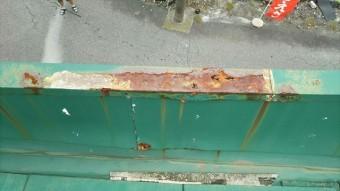 屋根表面に錆