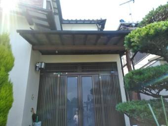 三島市玄関屋根雨漏り