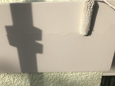 沼津市屋根塗装帯板上塗り