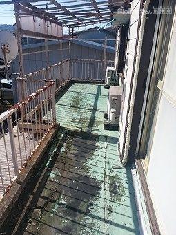 鉄製ベランダの防水破損