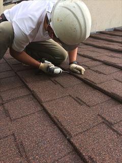 セネター葺き屋根重ね葺き