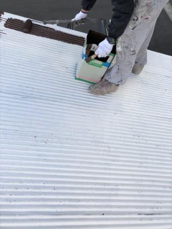 下塗り→シリコン塗装