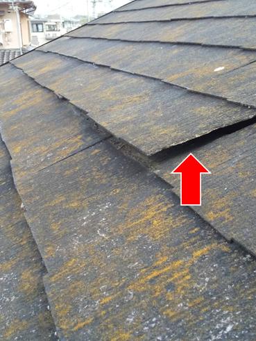 沼津スレート屋根材浮き