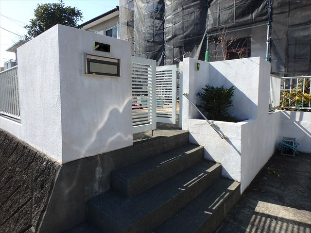 三島市塀塗装