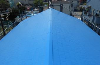 三島市屋根中塗り
