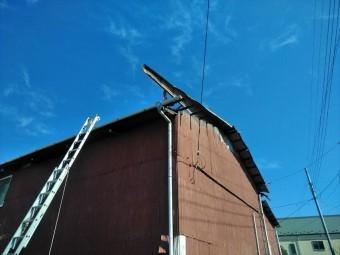 トタン屋根剥がれ 富士市屋根改修