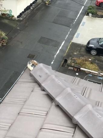 長泉町 台風により棟瓦が飛んだ