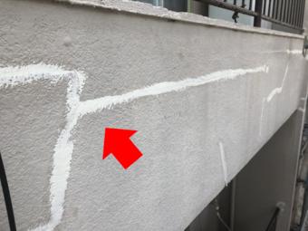三島市アパート塗装クラック補修