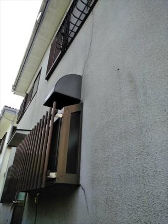 沼津市青野外壁ひび割れ