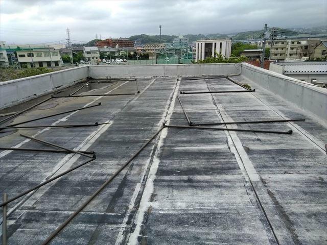 函南町の屋上防水劣化