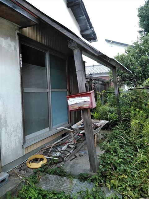長泉町戸建住宅 波板屋根破損