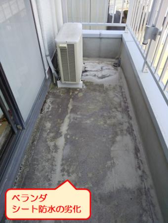 沼津市雨漏り調査ベランダ