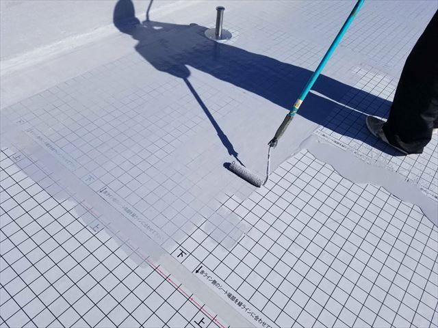 函南町 屋上防水塗装 ローラー