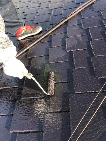 沼津市屋根塗装上塗り