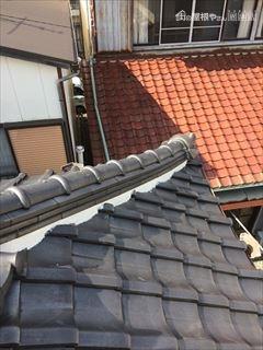 瓦屋根しっくい
