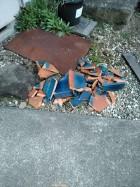 瓦落下破損の為の屋根工事