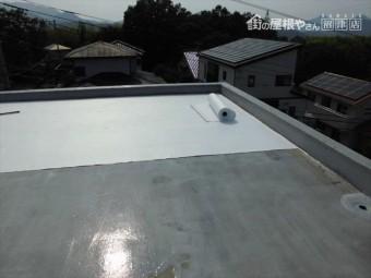 伊豆の国市 陸屋根メッシュシート貼