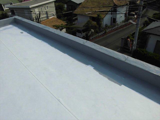 伊豆の国市 陸屋根ウレタン防水下処理