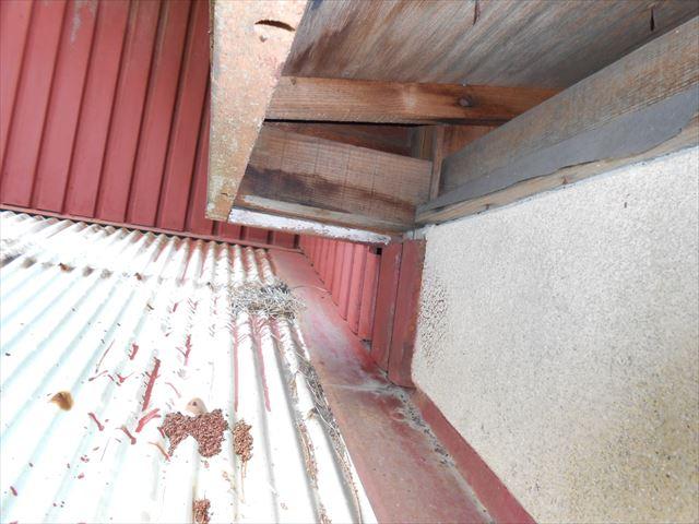 富士市玄関屋根劣化