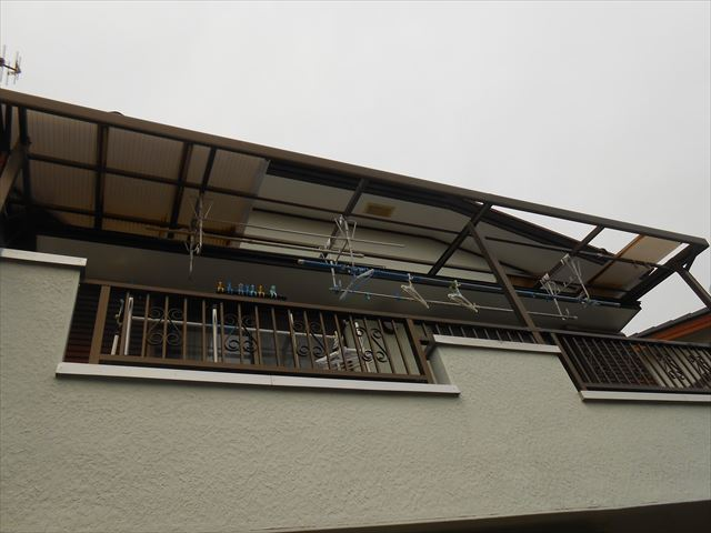 伊豆の国市テラス屋根被害