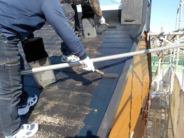 三島市アパート屋根塗装