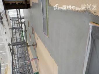 三島市外壁のクラック部分改修